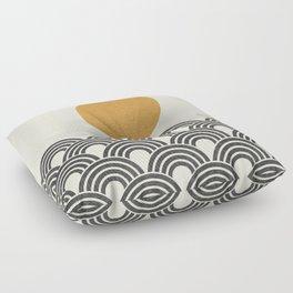 Sun & Wave - Oriental Pattern Floor Pillow