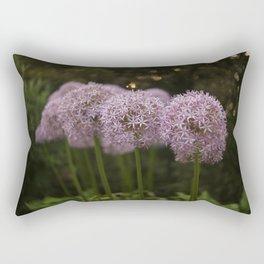 Purple Allium Ornamental Onion Flowers Blooming in a Spring Garden 2 Rectangular Pillow