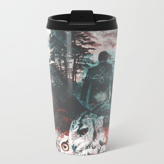 Not What They Seem Inspired by Twin Peaks Metal Travel Mug