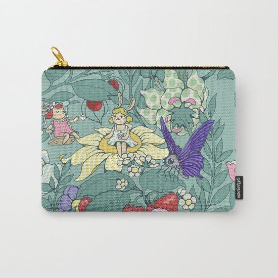 Garden party - mint tea version Carry-All Pouch