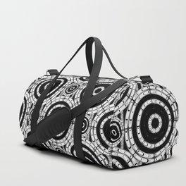 Geometric black and white Duffle Bag