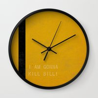 kill bill Wall Clocks featuring Kill Bill by Ewan Arnolda