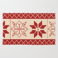 sweater Area & Throw Rugs featuring Christmas Sweater by Minette Wasserman