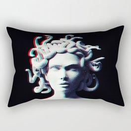 Medusa glitch Rectangular Pillow