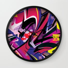 PAGER Mural Abstract Royal Stain Wall Clock