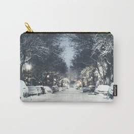 Montreal Snowy winter street Carry-All Pouch