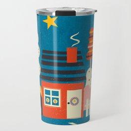 Festive Winter Hut Travel Mug
