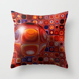 Tiles and Bubble-ations Throw Pillow