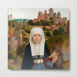 "Hans Memling""Old Woman at Prayer with St. Anne"" Metal Print"