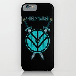 Viking Shield Maiden Badass Woman Warrior iPhone Case
