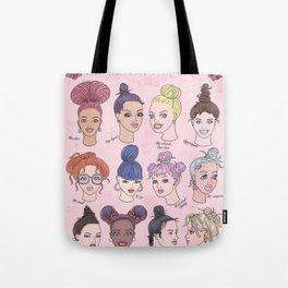 The Top Bun Look Tote Bag