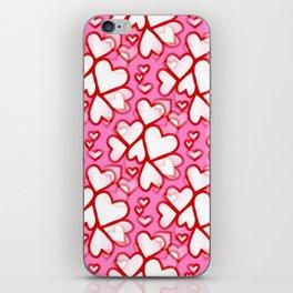 White Hearts iPhone Skin
