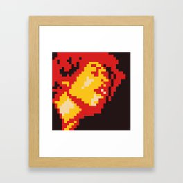 Jimi Experience minimal pixel Framed Art Print