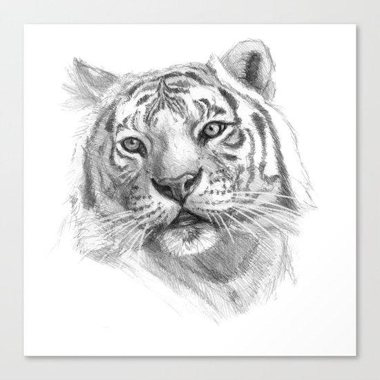 Sentimental Tiger SK118 Canvas Print