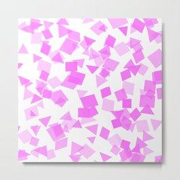 Festive Pink Confetti Metal Print