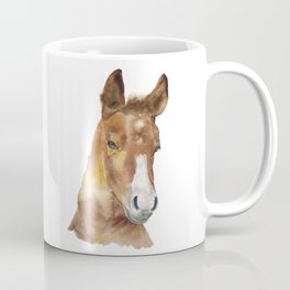 Horse Head Watercolor Coffee Mug