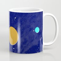 solar system Mugs featuring Solar System by Quinn Shipton