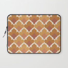 Orange Flower Pattern Laptop Sleeve
