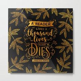 Thousand Lives - gold Metal Print