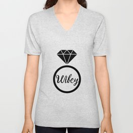 Wifey Matching Married Unisex V-Neck