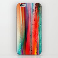 ice iPhone & iPod Skins featuring Ice Curtain by Klara Acel