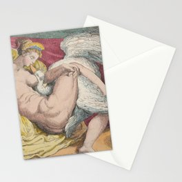 "Thomas Rowlandson ""Leda and the Swan"" after Michelangelo Buonarroti Stationery Cards"