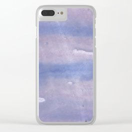 Purple Blue abstract watercolor pattern Clear iPhone Case