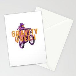 Gravity Queen - Female Motocross Dirt Bike Girl Stationery Cards