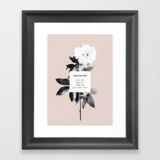 Como Se Flor Framed Art Print