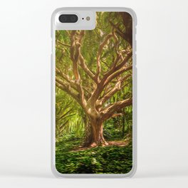 Huge Tree Middle Of Forest Clear iPhone Case