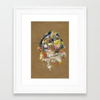 guinea pig Framed Art Prints featuring Guinea pig I by Nuance