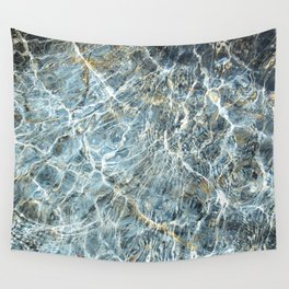 Blue Water Waves Wall Tapestry