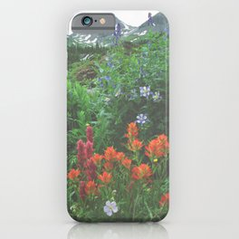 Wildflowers - Yankee Boy Basin above Ouray, Colorado iPhone Case
