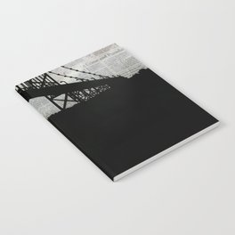 Paper City, Newspaper Bridge Collage Notebook