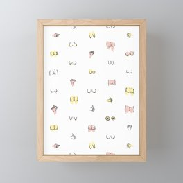 more butts and boobies Framed Mini Art Print