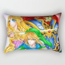 Power, Wisdom & Courage Rectangular Pillow