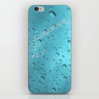 supergirl iPhone & iPod Skins featuring Supergirl by Armine Nersisian