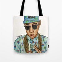 tyler the creator Tote Bags featuring Tyler, The Creator by Daniel Cash