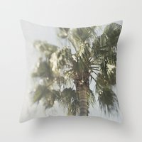 palm tree Throw Pillows featuring Palm Tree by Pure Nature Photos