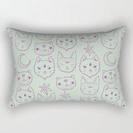 Mitty Mystics in Green Rectangular Pillow