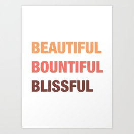 Daily mantra in coral orange 3 Art Print