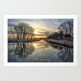 Along The River Bank 2 Art Print