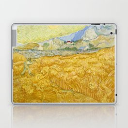 "Vincent van Gogh ""Wheat Field behind Saint Paul Hospital with a Reaper"" Laptop & iPad Skin"