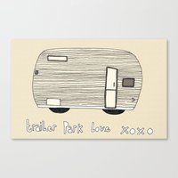 trailer park boys Canvas Prints featuring Trailer Park Love 3 by frithastrickland