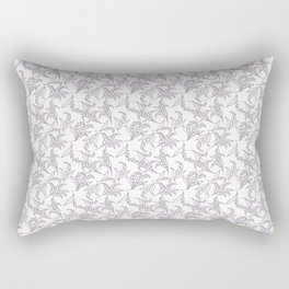 Mauve Vintage-Style Lily-of-the-Valley Pattern Rectangular Pillow