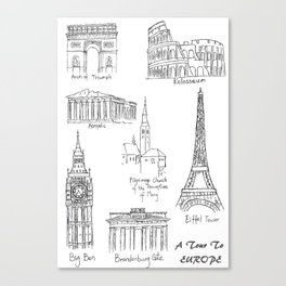 Europe at a glance Canvas Print