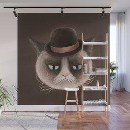 Sad cat Wall Mural