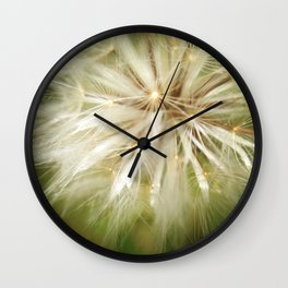 Flower of wishes Wall Clock