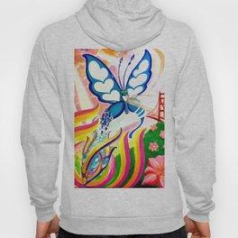 """""""SF Butterfly"""" by Adam France Hoody"""