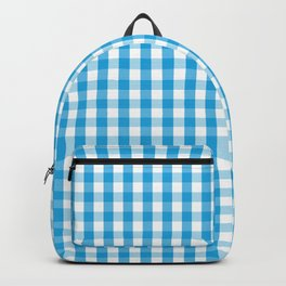Oktoberfest Bavarian Blue and White Large Gingham Check Backpack